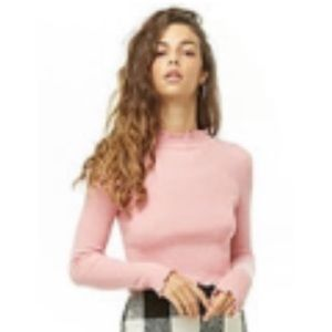Brand new pink cropped sweater